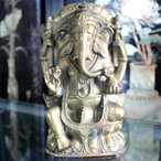 仏像 ガネーシャ(聖天・歓喜天) 銅製 置物 開運〔 天然石 パワーストーン アクセサリー 〕
