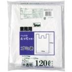 (まとめ)日本技研 取っ手付きごみ袋 CG121 半透明 120L 10枚〔×10セット〕