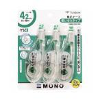 (まとめ) トンボ鉛筆 修正テープ モノYS4 4.2mm幅×10m 緑 KCA-325 1パック(3個) 〔×10セット〕
