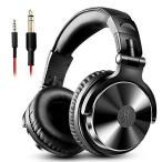 OneOdio Pro10 ヘッドホン 50mmドライバー 有線 マイク付き DJ モニターヘッドホン オーバーイヤー 密閉型 楽器練習 ミ