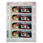 アイルトン セナ モナコ公国 限定 切手シート F1 monaco 記念切手 ayrton senna mclaren マクラーレン