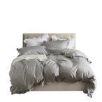 布団カバー 3点セット シンプル 可愛い フリル付き かわいい 通気 吸湿 掛け布団カバー おしゃれ 肌触りいい 枕カバー ベッド用品 簡約 無地