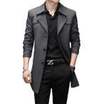 メンズ スプリングコート トレンチコート  薄手  ビジネスコート 通勤コート 大きいサイズあり ジャケット カジュアル 春アウター フォーマル M〜8XL