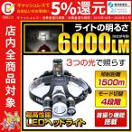LEDヘッドライト 懐中電灯 ヘッドライト 強力LED 6000ルーメン 4モード切り替えfl-sh020