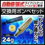 交換用ボンベセット 自動膨張式 ライフジャケット ウエストタイプ用 24gガスボンベ<対応製品:klj-wa>