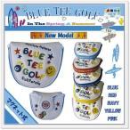 ショッピングブルー ☆ブルーティーゴルフ BLUE TEE GOLF 【Putter Coverマグネット式】  マレット型 パターカバー  スマイル&ピンボール