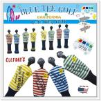 ブルーティーゴルフ BLUE TEE GOLF California ストライプ ニット ユーティリティ用 ヘッドカバー