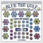 ☆ブルーティーゴルフ 【カジノチップ マーカー 単品販売(イエロー)】 BLUE TEE GOLF California CASINO CHIP MARKER 【Tokyo 新橋】