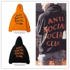 ANTI SOCIAL SOCIAL CLUB アンチソーシャルソーシャルクラブ ロゴ スウェット パーカー プルオーバー フード 裏起毛