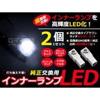【送料無料】LEDインナーランプ クラウン マジェスタ UZS180系 ホワイト/白 2個セット【純正交換 内装 LED フットランプ グローブボックス コンソール】