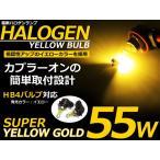 【送料無料】カラーバルブ HB4 55Wイエロー ハロゲン 3000K フォグランプ【バーナー 左右セット 2本セット ゴールド 黄色 12V ハロゲン バルブ】