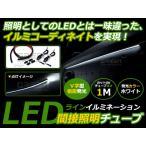1M/100cm LEDマジックファイバー アンビエントライト 側面発光ホワイト LEDテープ ラインイルミ LED 外装 テープ LEDラインイルミ