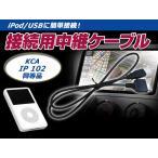 送料無料 iPod iPhone 接続ケーブル ケンウッド MDV-626DT 互換 KCA-iP102 カーナビ カーオーディオ 【接続コード 配線 カーモニター 音楽 動画 再生