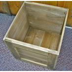 木箱 組み立て簡単キット! アンティーク風 家具 収納ボックス オリーブ塗装 A ウッドボックス・ポテトボックス・キャベツボックス