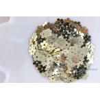 スパンコール 約400枚(約2g) 5枚花びら 5mm メタリック 金色 ゴールド (SF505TGLJJ00)