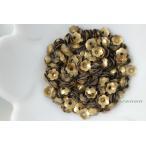 スパンコール 5mm 約340枚(約2.5g) 花カップ マット ゴールド 金色 (SFC05MGLSH00)