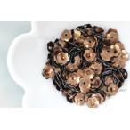 スパンコール 約300枚(約3.5g)花カップ 7mm マットチョコレート色 (SFC07MCLJB00)