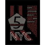 【ニューヨーク・ブルックリン】ポストカード 黒背景