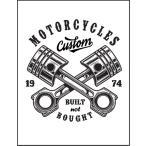 【バイク・1974・ロゴ】ポストカード