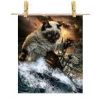 【猫 ねこ 海 嵐 船】ポストカード by Fox Republic