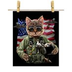 【空軍 ネコ 猫 パイロット】ポストカード by Fox Republic