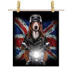 【バセットハウンド ドッグ 犬 いぬ バイク イギリス】ポストカード by Fox Republic