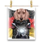 【クリーム色 ダックスフンド ドッグ 犬 いぬ バイク ドイツ】ポストカード by Fox Republic