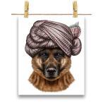 【ジャーマンシェパード ドッグ 犬 いぬ ターバン】ポストカード by Fox Republic