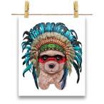 【クリーム色 プードル ドッグ 犬 いぬ インディアン】ポストカード by Fox Republic