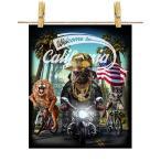 【不機嫌なパグ ドッグ 犬 いぬ バイク ヒップホップ】ポストカード by Fox Republic