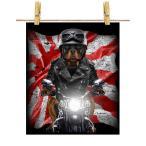 【ロットワイラー ドッグ 犬 いぬ バイク 日本 日の丸】ポストカード by Fox Republic