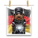 【ヨークシャテリア ドッグ 犬 いぬ バイク ドイツ】ポストカード by Fox Republic