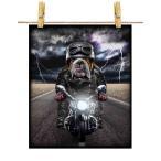 【イングリッシュ ブルドッグ ドッグ 犬 いぬ バイク ヘルメット】ポストカード by Fox Republic