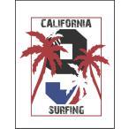 【カリフォルニア・サーフィン・ヤシの木】ポストカード