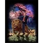 【アメリカ・トランプ・大統領・アメリカをまた偉大に】ポストカード 黒背景