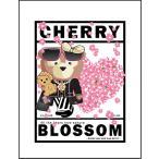 【クマと桜】ポストカード