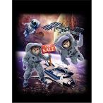 【スペースシャトルを売るネコ宇宙飛行士】ポストカード 黒背景