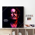 ポップアートパネル インテリア アート ポスター 絵 壁掛け 絵画 Johnny Depp Ver.2 ジョニー・デップ キータタット シティケット