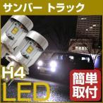 スバル サンバー トラック LEDヘッドライト LEDバルブ H4 Hi/Lo 球交換 簡単取付 TT系/S2#1/S500J