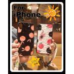 iPhone XR ケース iPhone Xs iPhone8 ケース ストラップ付きアイフォン8 iPhone7 iPhoneケース 桃 蜜柑 おしゃれ キラキラ グリッター スマホケース