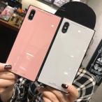 iPhone XR ケースiPhone8 iPhone7ケース 背面ガラス鏡面iPhonexs maxケース 耐衝撃 軽量 iPhone7 plus ケース iPhone6s iPhone6 可愛い おしゃれ