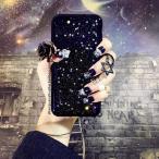iPhone X ケース,Imikoko iPhoneX ケース アイフォンX カバー シリコンおしゃれ かわいい キャラクター ソフトケースキラキラ 耐衝撃 黒