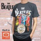 メール便 送料無料 The Beatles ザ・ビートルズ Tシャツ Sg PEPPERS LONELY HEART グレー メンズ ロックTシャツ バンドTシャツ