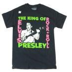 ELVIS PRESLEY エルヴィス・プレスリー THE KING OF ROCKN ROLL ブラックTシャツ