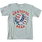 グレイトフル・デッド Grateful Dead カレッジ 星条旗 グレーTシャツ