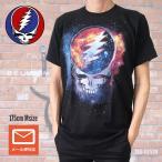 送料無料 バンドTシャツ グレイトフル・デッド Grateful Dead Steel your face 宇宙 ブラック ギャラクシー Tシャツ
