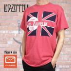 "Led Zeppelin レッド・ツェッペリン ""UNION JACK"" レッド Tシャツ"