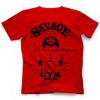 マッチョマン・ランディ・サベージ Tシャツ「Randy Savage Savage Gym (Red) Tシャツ」【米直輸入(日本未発売) 大きいサイズ(XXL 3XL 4XL)もあり】