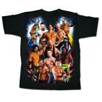 WWE プロレス Tシャツ「WWE Superstars All Out Collage Tシャツ」アメリカ直輸入プロレスTシャツ