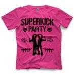 ヤングバックス Tシャツ「The Young Bucks Superkick Party Pink Tシャツ」(バックプリントあり)【アメリカ直輸入プロレスTシャツ】